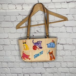 Rosetti cats meow hangbag sequins colorful